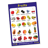 Fruits Poster (A2 - 620mm x 420mm)