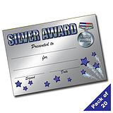 Silver Award Certificates (20 Certificates - A5)