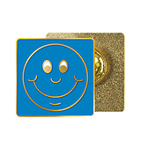 Blue Smile Enamel Badge (20mm x 20mm)