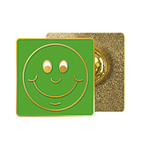 Green Smile Enamel Badge (20mm x 20mm)