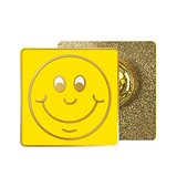 Yellow Smile Enamel Badge (20mm x 20mm)