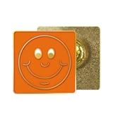 Orange Smile Enamel Badge MULTI BUY OFFER