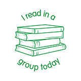 'I read in a group today' Stamper (17mm, Green Ink)