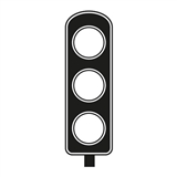 Traffic Light Stamper - Black Ink (10mm x 35mm)