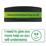 I Need to Give You More Help Stakz Stamper - Green Ink (44mm x 13mm)