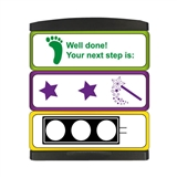 2 Stars and a Wish, Traffic Light & Next Step 3-in-1 Stakz Stamper (44mm x 13mm per brick)