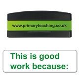 This is Good Work Because Stakz Stamper - Green Ink (44mm x 13mm)