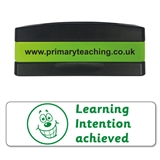 Learning Intention Achieved Stakz Stamper - Green Ink (44mm x 13mm)