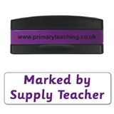 Marked by Supply Teacher Stakz Stamper - Purple Ink (44mm x 13mm)