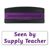 Seen by Supply Teacher Stakz Stamper - Purple Ink (44mm x 13mm)