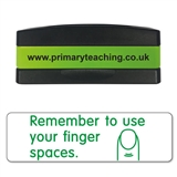 Remember to Use Your Finger Spaces Stakz Stamper - Green Ink (44mm x 13mm)
