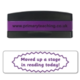 Moved Up a Stage in Reading Today Stakz Stamper - Purple Ink (44mm x 13mm)