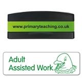 Adult Assisted Work Stakz Stamper - Green Ink (44mm x 13mm)
