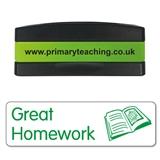 Great Homework Stakz Stamper - Green Ink (44mm x 13mm)