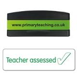 Teacher Assessed Stakz Stamper - Green Ink (44mm x 13mm)