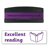 Excellent Reading Stakz Stamper - Purple Ink (44mm x 13mm)