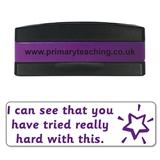 Tried Really Hard Stakz Stamper - Purple Ink (44mm x 13mm)