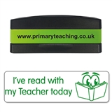 I've Read With My Teacher Today Stakz Stamper - Green Ink (44mm x 13mm)