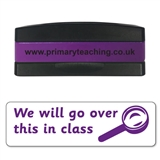 We Will Go Over This In Class Stakz Stamper - Purple Ink (44mm x 13mm)