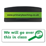 We Will Go Over This In Class Stakz Stamper - Green Ink (44mm x 13mm)