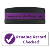 Reading Record Checked Stakz Stamper - Purple Ink (44mm x 13mm)