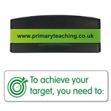 To Achieve Your Target, You Need to: Stakz Stamper - Green Ink (44mm x 13mm)