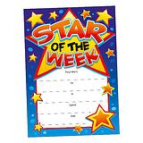 Star of the Week Certificates - Blue (20 Certificates - A5) Brainwaves
