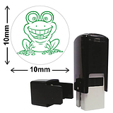 Frog Mini Stamper - Green Ink (10mm)