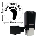 'Your Next Step' Footprint Mini Stamper (10mm, Green Ink)