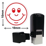 Smiley Face Mini Stamper (10mm, Red Ink)