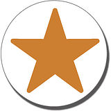 Bronze Star Stamper - Bronze Ink (21mm)