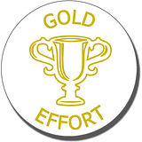 Gold Effort Trophy Stamper - Gold Ink (25mm)
