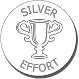 Silver Effort Trophy Stamper - Silver Ink ((21mm)