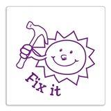 Purple 'Fix it' Sun Stamper - Purple Ink (25mm)