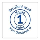 Excellent Work You Deserve a House Point Stamper - Blue Ink (25mm)
