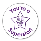 You're a Superstar Stamper - Purple Ink (25mm)