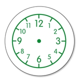 Clock Stamper - Green Ink (25mm)