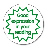 Good Expression in Your Reading Stamper - Green Ink (21mm)
