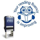Your Reading Fluency is Improving Stamper - Blue Ink (21mm)