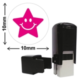 Star Mini Stamper - Pink Ink (10mm)