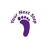 Your Next Step Footprint Stamper - Purple Ink (10mm)