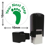 Your Next Step Footprint Stamper - Green Ink (10mm)