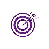 Target Mini Stamper - Purple Ink (10mm)