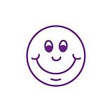 Smiley Face Stamper - Purple Ink (10mm)