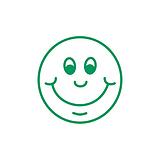 Smiley Face Stamper - Green Ink (10mm)