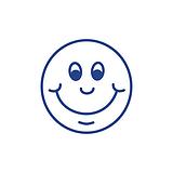 Smiley Face Stamper - Blue Ink (10mm)