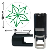Star Mini Stamper - Green Ink (10mm)