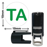 TA' Mini Stamper (10mm, Green Ink)