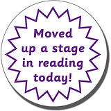 Moved Up a Stage in Reading Today!' 21mm Purple Stamper
