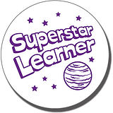 Superstar Learner' Stamper - Purple Ink (21mm)